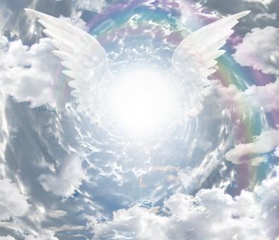 光と天使的羽根 画像