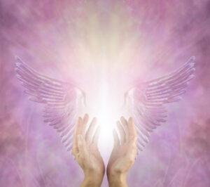 光、天使的羽根、ハンド写真